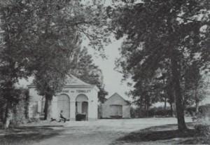 1850 : la deuxième école de Nivezé se situait à côté de la source du Tonnelet (document collection Musées de la Ville d'eaux-Spa)
