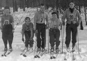 De gauche à droite : Renson, Jacky Thonnart, Pierrot Herman, Michel Dejong et Lambert.