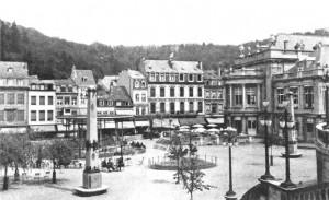 Au centre des anciens jardins du Casino de Spa, se dressait autrefois un kiosque sur lequel se produisait l'orchestre de la ville d'eaux.