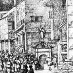 Vue de la fontaine du Pouhon vers 1651 par Van Everdingen