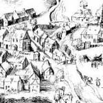Fragment de la vue de Pierriers (1559)
