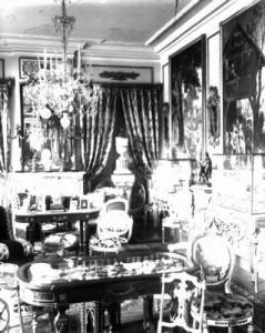 Un salon du château de la Havette<BR>Collection Musée de la Ville d'eaux