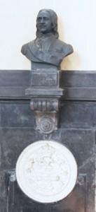 Statue de Pierre Le Grand et médaillon en albâtre