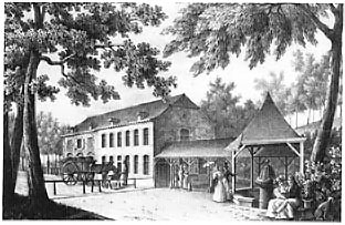 La sauvenière : gravure du général de Howen vers 1825.