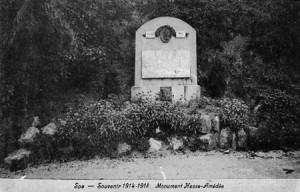 Premier monument initial Amédée Hesse (carte postale)