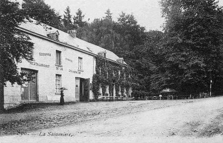 1908: Restaurant d'Edouard Evrard (carte postale)