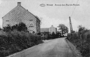 L'avenue Jean-Baptiste Romain en 1933 (carte postale collection Marc Hans)
