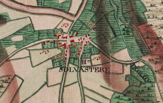 Hameau de « Solvastere », extrait carte Ferraris de 1777 (I.G.N. – site internet : www.ign.be)