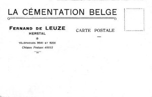 Entête d'une carte postale « La Cémentation Belge » (collection Xavier Coibion)