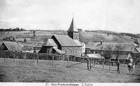 Carte postale : 1930 : la chapelle Saint Hubert de Ster-Francorchamps