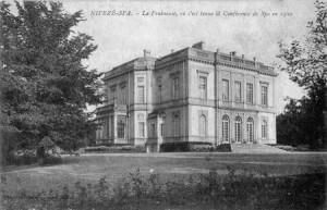1920 : Château de la Fraineuse, siège de la Conférence Diplomatique de Spa