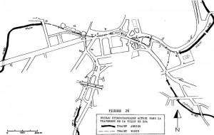 Le tracé du Wayai dans la traversée de Spa.