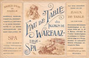 Etiquette sur laquelle on reconnaît le château de Georges d'Artet  (collection X. Coibion)