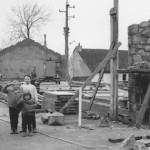 Automne 1964 : construction du bâtiment préfabriqué