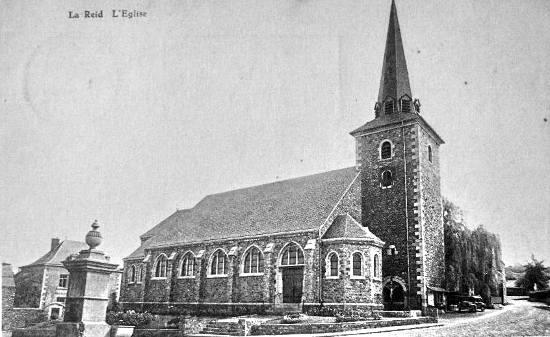 Carte postale : 1950 : Eglise Saint-Lambert de La Reid