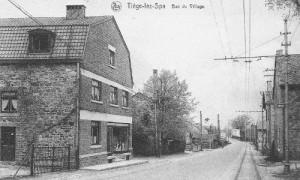 1940: L'épicerie Raquet-Hardy (carte postale)