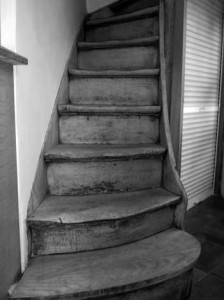 L'escalier de l'ancien magasin de pralines Leonidas