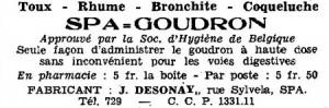 Une publicité, parue dans un numéro de la revue J'ose, de janvier 1936