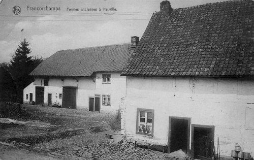 Carte postale: 1935: les fermes Lédel et Lamborelle