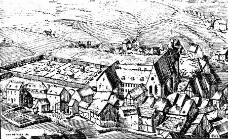 Gravure du couvent des capucins.