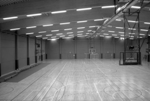 Le nouveau hall omnisport du centre sportif de la Fraineuse. Photo: H.P. Lesuisse