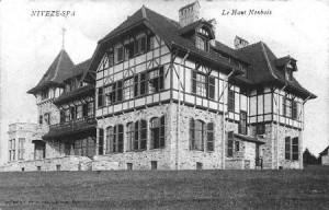 1910 : Château du Haut-Neubois à Nivezé –Spa (carte postale)