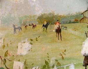 les jockeys se préparent dans le paddock