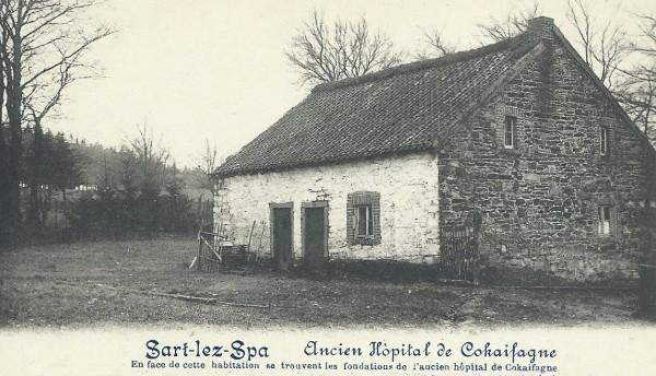 1900 : Vieille maison de Cokaifagne située en face des fondations de l'ancien hôpital