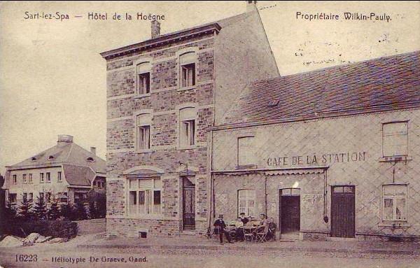 1910De gauche à droite L'hôtel des Hautes Fagnes et l'hôtel de la Hoëgne (ca. post)