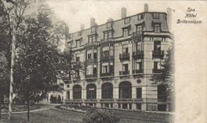 Grand hôtel Britannique rue de la Sauvenière à Spa (carte postale)