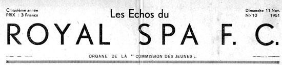 un numéro du journal de la « commission des jeunes » du dimanche 11 novembre 1951