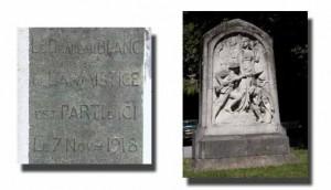 Monument de la guerre 1914-1918 dans le parc de 7 Heures