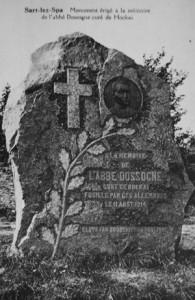 Monument à la mémoire de l'abbé Dossogne