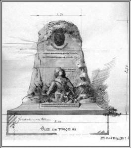 Plan du projet du monument Georges Krins.