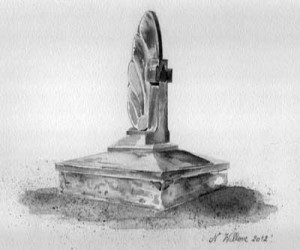 Aquarelle : « Le monument Anglo-Canadien », érigé en 1947