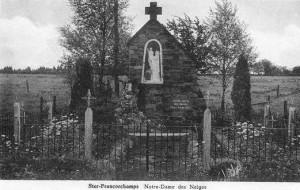 Carte postale : 1950 : L'oratoire Notre-Dame des Neiges à Cronchamps