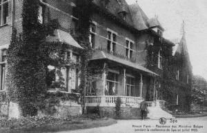 1920 : Le Nivezé Farm, résidence de la délégation belge (carte postale)