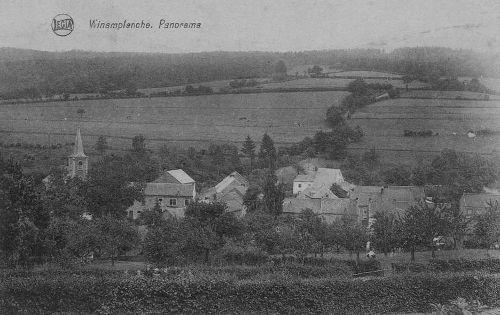Le village de Winamplanche vu de la route menant à La Reid (carte postale)