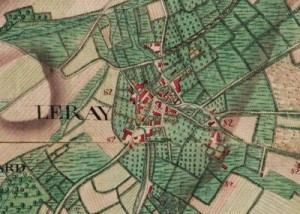 Le village de « Le Ray », extrait de la carte Ferraris de 1777 (I.G.N. – www.ign.be)