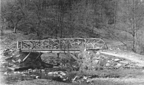 1935 : Hockai, le « Pont du Centenaire » (carte postale)