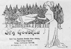 Publicité du Spa-Goudron d'Edmond Desonay