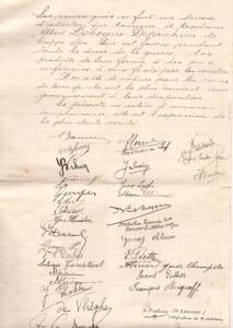 Lettre de reconnaissance (Collection M. et Mme Jacquy Dohogne-Cordonnier)