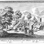 Gravure des Amusemens des eaux de Spa de 1734