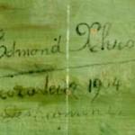 La signature d'Edmond Xhrouet