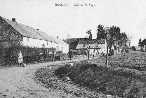 1908: Sortie du village en direction de Xhoffraix (route de la fagne)