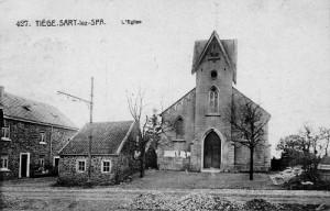 1912 : La chapelle Saint Corneille à Tiège (carte postale)