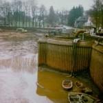 Vidange du lac en 1979 (Photo Marcel Decerf)