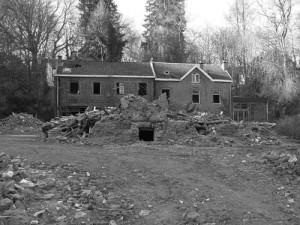 Démolition de la villa Saint Hubert rue de Barisart
