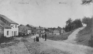 1909: Le Wérihay après la canalisation du Ruy de Creppe (c. postale - Fonds Body)