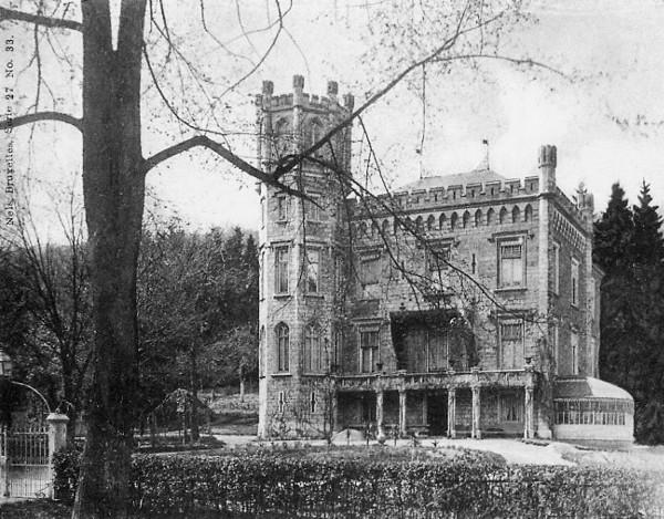 Le château Rouma avenue du Marteau villa démolie (carte postale de 1906)